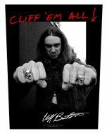 METALLICA - Cliff Burton - Cliff em All - Backpatch / Rückenaufnäher