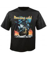 RUNNING WILD - Cover - Under Jolly Roger - T-Shirt