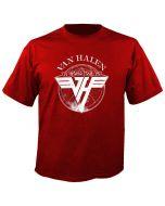 VAN HALEN - World Tour 1979 - Red - T-Shirt