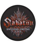 SABATON - Swedish Empire - Live - Patch / Aufnäher